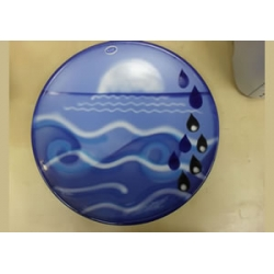 Poole pottery elements charger limited edition Water