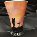 "WW1 ""SUNSET"" CONICAL MEDIUM VASE"