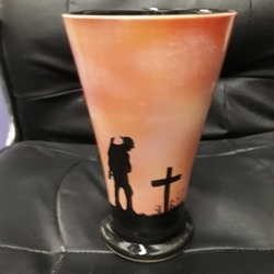 "WW1 COMMERATIVE VASE ""SUNSET"" CONICAL"