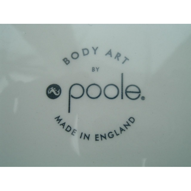 Poole body art cup and saucer