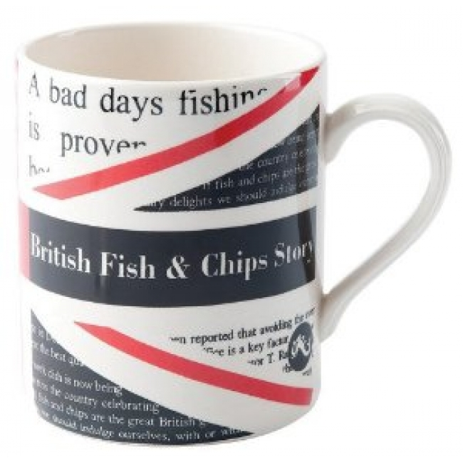 Poole Pottery Fish and Chips mug