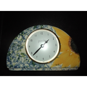 VINCENT SUNFLOWER CLOCK HALFMOON