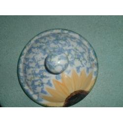 Poole pottery vincent Sugar pot Lid only